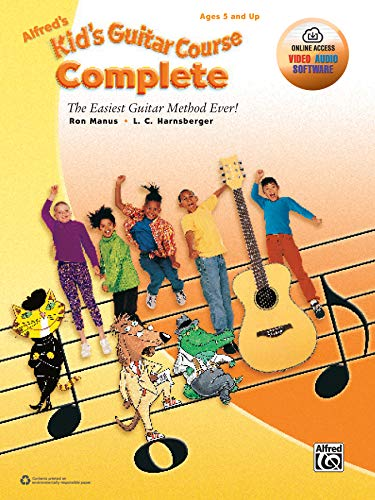 9781470632021: Alfred's Kid's Guitar Course Complete: The Easiest Guitar Method Ever!, Book & Online Video/Audio/Software