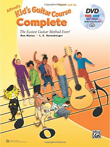 9781470632038: Alfred's Kid's Guitar Course Complete: The Easiest Guitar Method Ever! (Book, DVD & Online Audio, Video & Software)