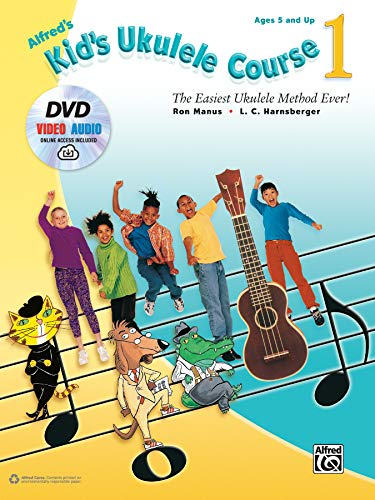 9781470632083: Alfred's Kid's Ukulele Course 1: The Easiest Ukulele Method Ever!, Book, DVD & Online Audio & Video
