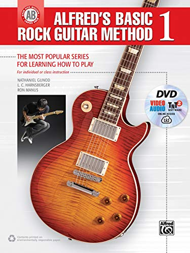 9781470632328: Alfred's Basic Rock Guitar Method, Bk 1: The Most Popular Series for Learning How to Play, Book, DVD & Online Audio, Video & Software (Alfred's Basic Guitar Library)
