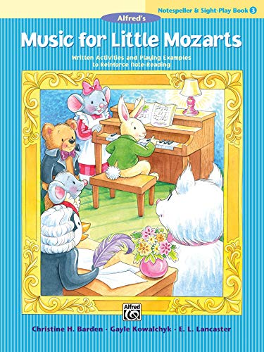 9781470632410: Music for Little Mozarts Notespeller & Sight-Play Book, Bk 3: Written Activities and Playing Examples to Reinforce Note-Reading