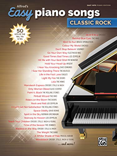 Alfred's Easy Piano Songs -- Classic Rock: Music, Alfred