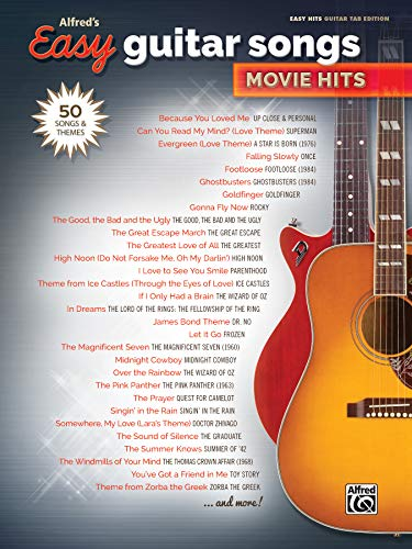 Alfred's Easy Guitar Songs -- Movie Hits: Alfred Music