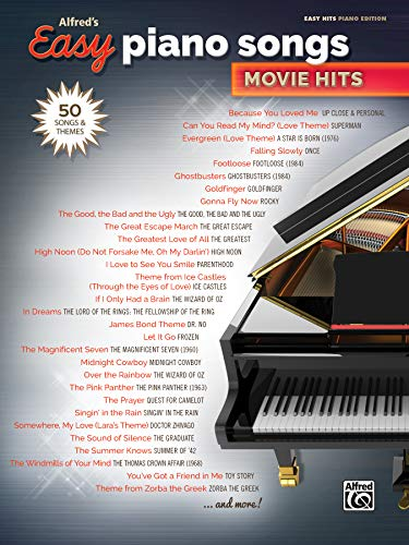 Alfred's Easy Piano Songs -- Movie Hits: Alfred Music