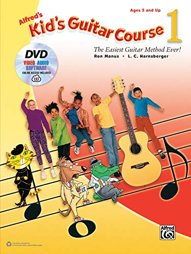 9781470633325: Alfred's Kid's Guitar Course 1: The Easiest Guitar Method Ever!, Book, DVD & Online Audio, Video & Software