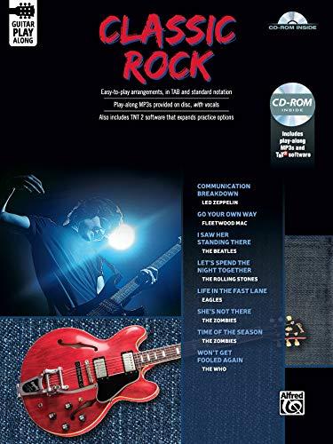 Classic Rock Guitar Play-Along: Guitar TAB (Book & CD-ROM): Alfred Music