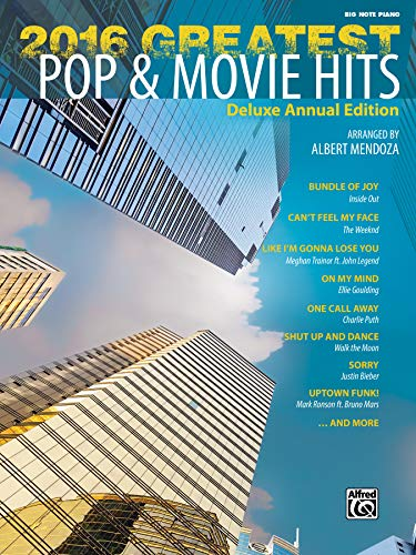 9781470633462: 2016 Greatest Pop & Movie Hits: Big Note Piano