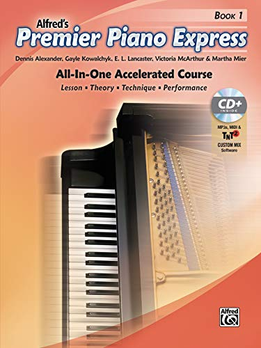 9781470633691: Premier Piano Express, Bk 1: All-In-One Accelerated Course, Book, CD-ROM & Online Audio & Software (Premier Piano Course)