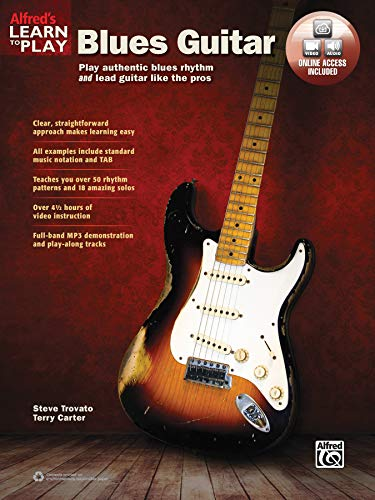 9781470635367: Alfred's Learn to Play Blues Guitar: Play Authentic Blues Rhythm and Lead Guitar Like the Pros, Book & Online Audio & Video