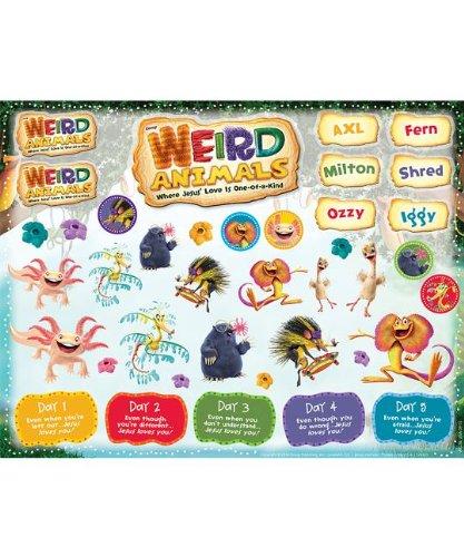 9781470707699: Weird Animals Sticker Sheets 10 Sheets (Weird Animals (Vbs))