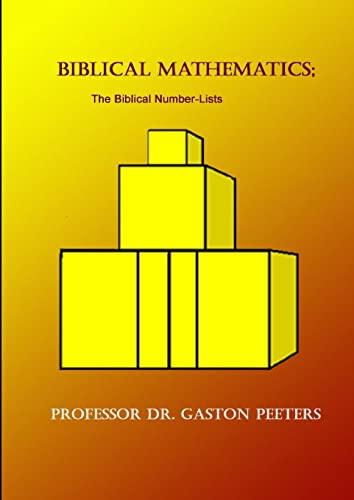 9781471775758: Biblical Mathematics The Biblical Number-Lists