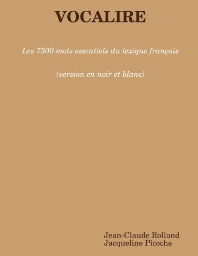 9781471794261: Vocalire (noir et blanc) (French Edition)