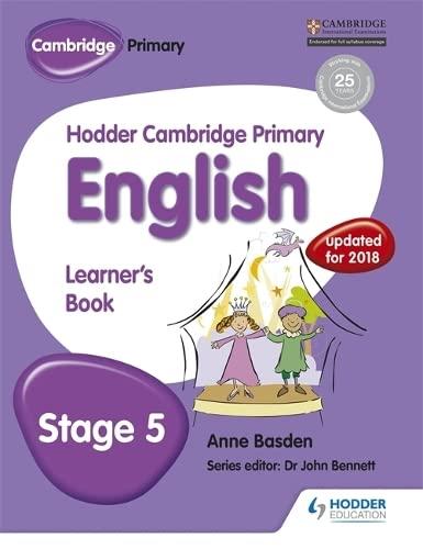 Hodder Cambridge Primary English: Learner s Book Stage 5: Hodder Cambridge Primary English: Learner...