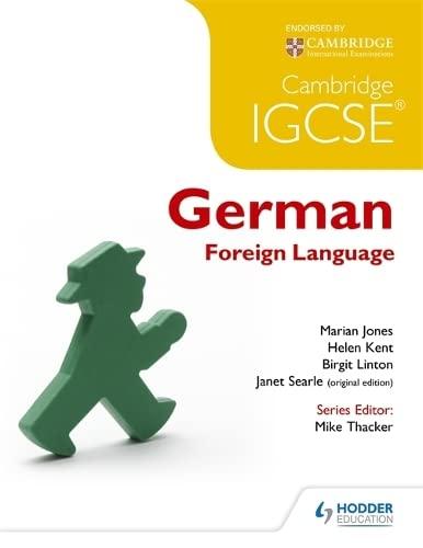 Cambridge IGCSE® German Foreign Language (Paperback)