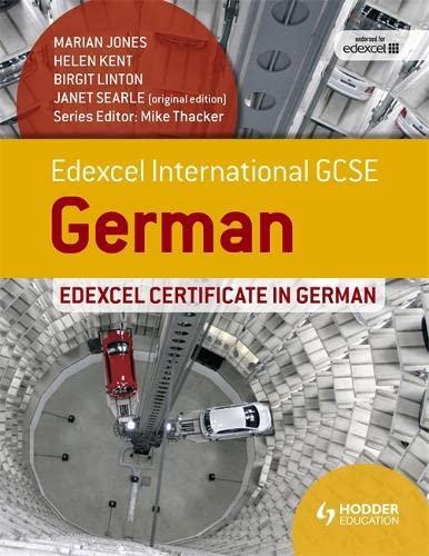 9781471833069: Edexcel International GCSE and Certificate German