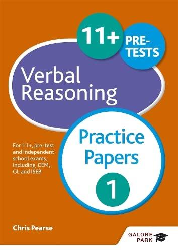9781471849299: 11+ Verbal Reasoning Practice Papers 1