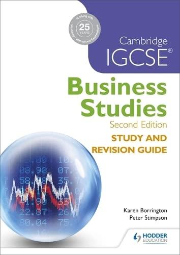 Cambridge IGCSE Business Studies Study and Revision: Karen Borrington, Peter