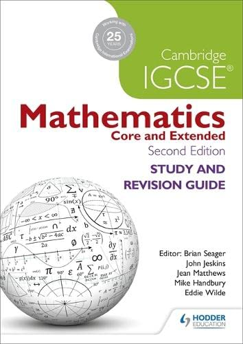 9781471856587: Cambridge IGCSE Mathematics Study and Revision Guide 2nd edition