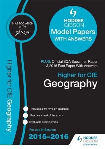 9781471860751: Higher Geography 2015/16 SQA Specimen, Past and Hodder Gibson Model Papers (Sqa Specimen Paper 2014)