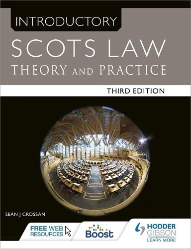 9781471863691: Introductory Scots Law Third Edition: Theory and Practice