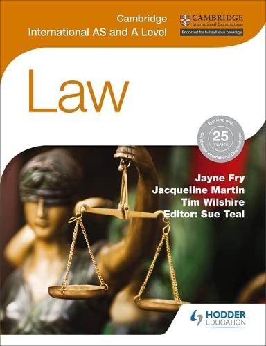 9781471866487: Cambridge International AS and A Level Law