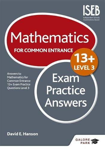 9781471868931: Mathematics Level 3 for Common Entrance at 13+ Exam Practice Answers