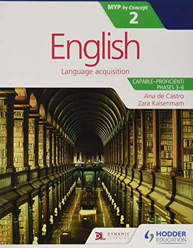 9781471880612: English for the IB MYP 2 (Capable–Proficient/Phases 3-6): by Concept (Middle Years Programme Ib)