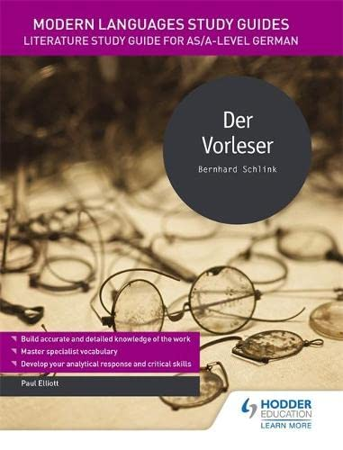 9781471890161: Modern Languages Study Guides: Der Vorleser: Literature Study Guide for AS/A-level German (Film and literature guides)