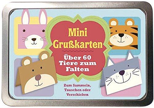 9781472305145: Boxset Mini Grußkarten -Über 60 Tiere zum Falten: Zum Sammeln, Tauschen oder Verschicken Mini Grußkarten