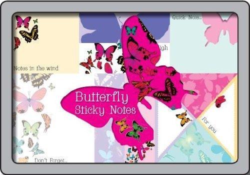 9781472305558: Juego de diseño de mariposas en una lata de notas adhesivas