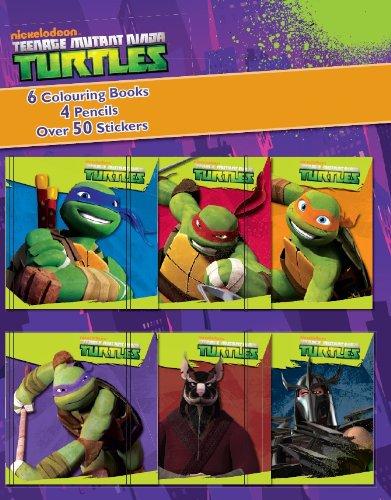 9781472311924: Teenage Mutant Ninja Turtles Mini Colouring Books and Pencil Set