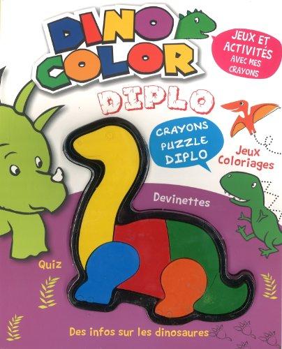 9781472320704: Dino Color Diplo : Jeux, activit�s et infos sur les dinosaures. Avec crayons-puzzles Diplo