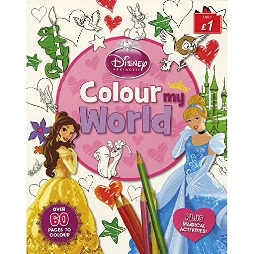 Disney Princess Colour My World (Paperback)