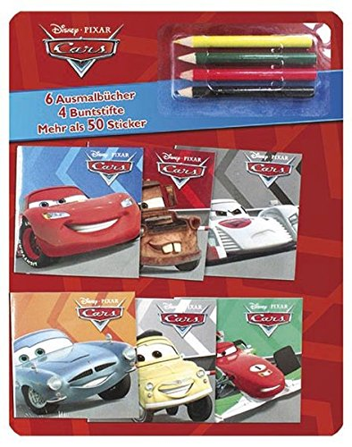 9781472359353: Disney PIXAR Cars: Mit 6 Ausmalb�chern, 4 Buntstiften und mehr als 50 Stickern