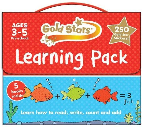 9781472359582: Gold Stars Learning Pack Ages 3-5 Pre-school: Learn How to Read, Write, Count and Add (Gold Stars Preschool Workbook)
