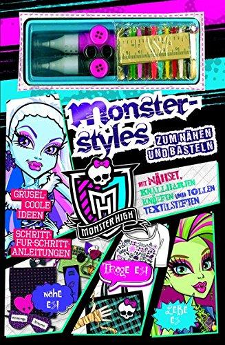 9781472361943: Monsterstyles zum Nähen und Basteln: Mit Nähset, knallharten Knöpfen und tollen Textilstiften