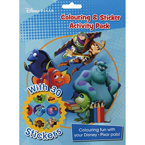 9781472373212: Disney Pixar Colouring and Sticker Activity