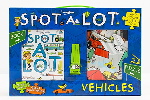 9781472394033: Spot A Lot Vehicles Book and 20 Piece Jigsaw Puzzle