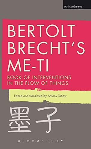 9781472579171: Bertolt Brecht's Me-ti