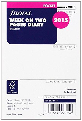 9781472612434: Filofax Pocket Week on Two Page Diary En (2015)