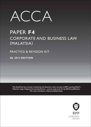 9781472702913: ACCA F4 Malaysian Law: Revision Kit