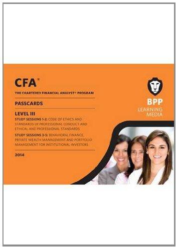 9781472704337: CFA Level 3: Passcards