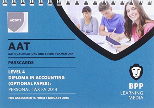 AAT Personal Tax FA2014: Passcards: BPP Learning Media