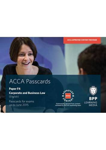 9781472711229: ACCA F4 Corporate and Business Law (English): Paper F4: Passcards