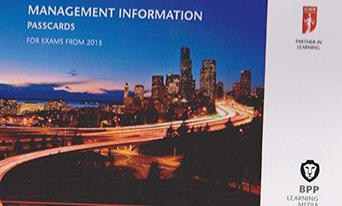 9781472714305: ICAEW Management Information: Passcards