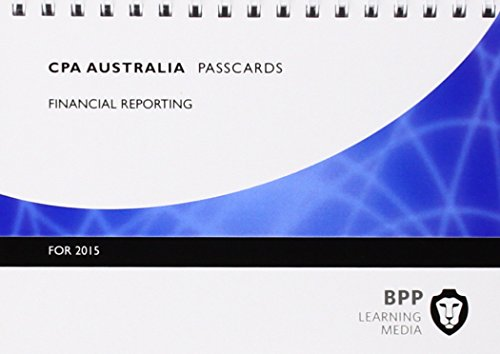 9781472714695: CPA Australia Financial Reporting: Professional level: Passcards