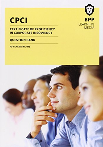 9781472726490: CPCI Certificate of Proficiency in Corporate Insolvency: Question Bank