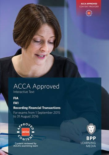 9781472735201: FIA Recording Financial Transactions FA1: Interactive Text