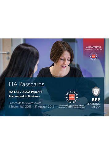 9781472735423: FIA Foundations of Accountant in Business FAB (ACCA F1): Passcards