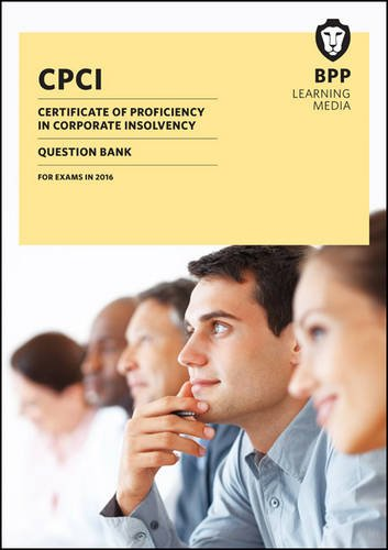 9781472738806: CPCI Certificate of Proficiency in Corporate Insolvency: Question Bank